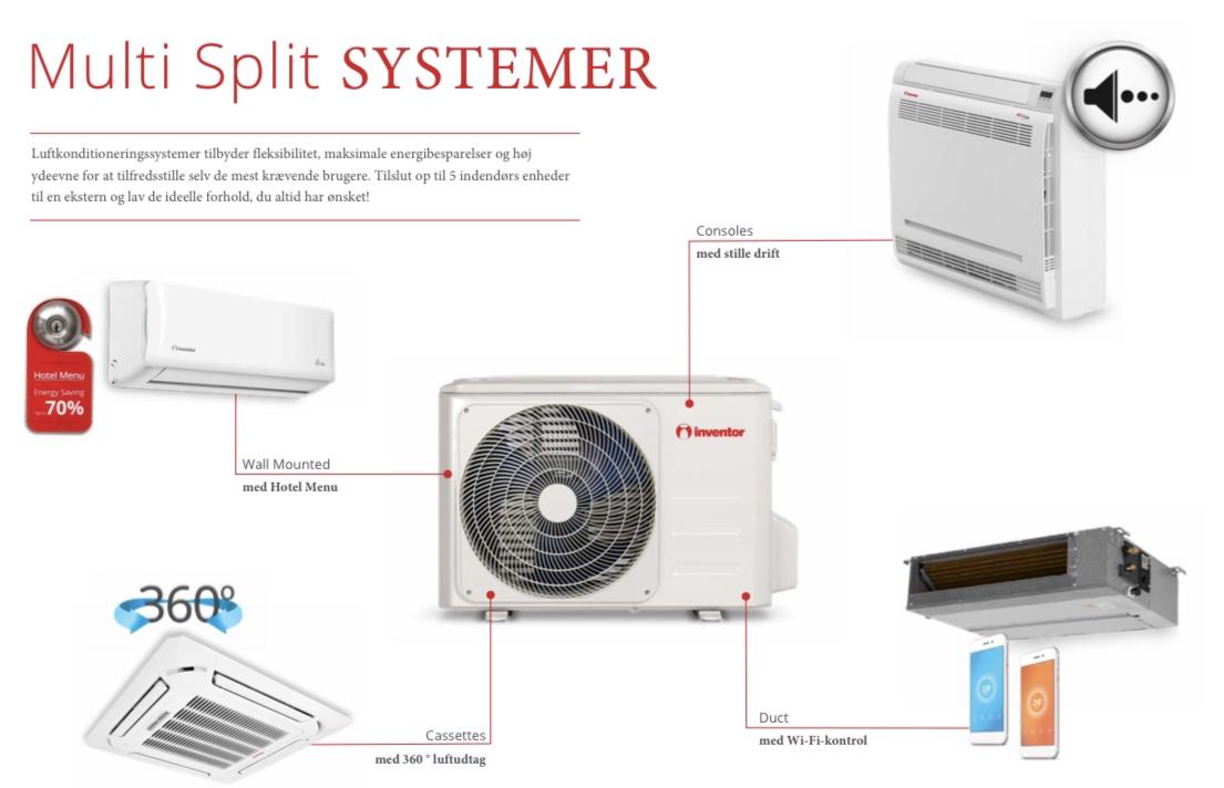 Inventor Multisplit systemer - js varmepumper og byggeservice